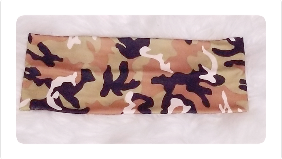 Camouflage Flat Headband