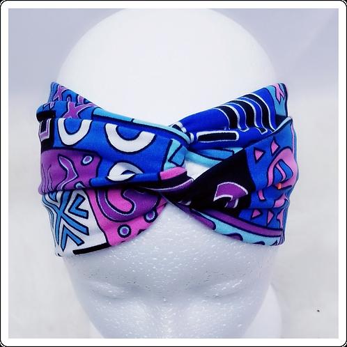 Nhlahla Print Purple and Blue Looped Headband