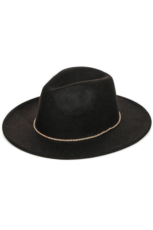 Rope Chain Strap Fedora Fashion Hat