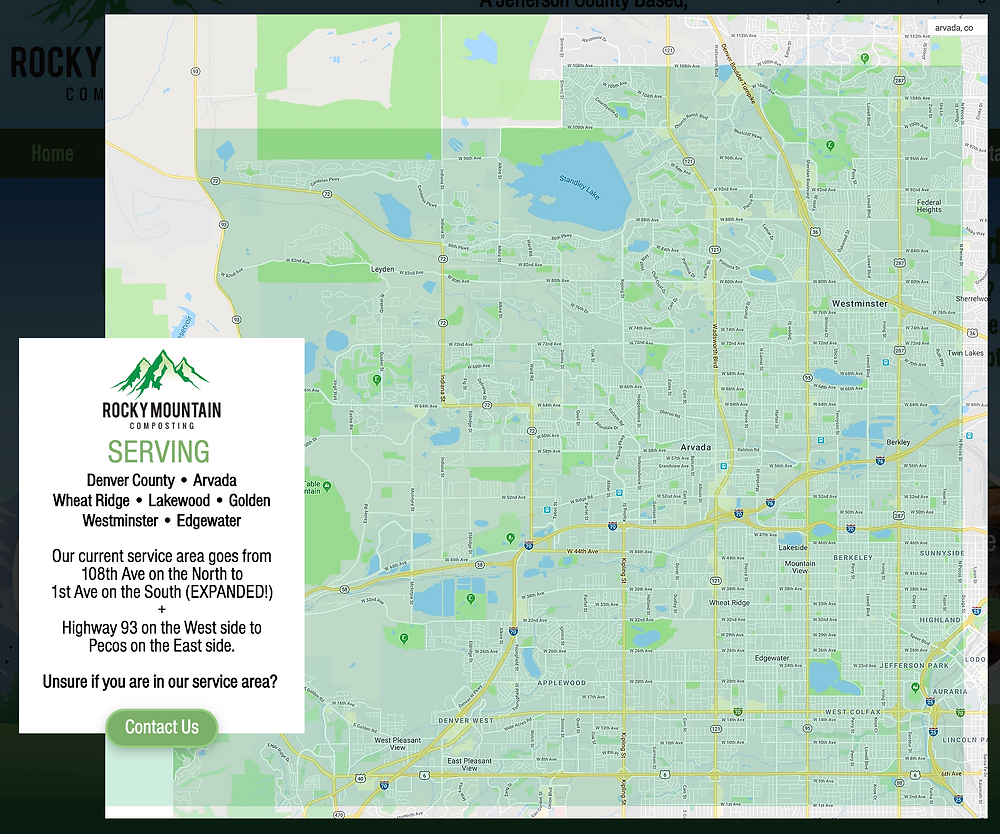 Colorado Compost Service Area Map