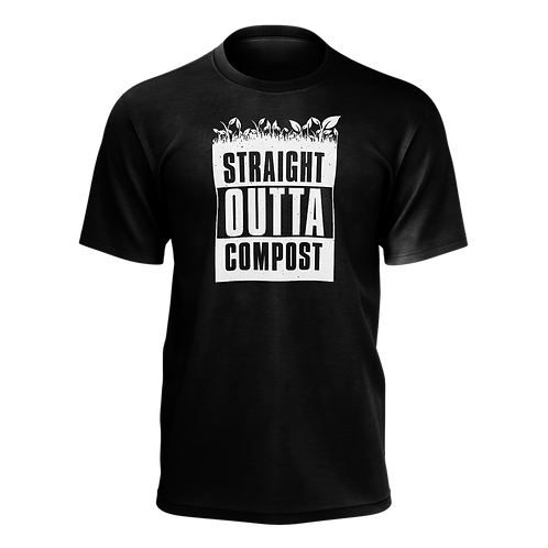 Straight Outta Compost T-Shirt - Black