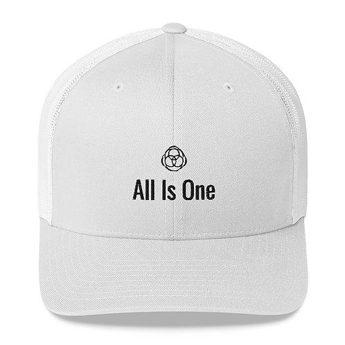All Is One Original White Trucker Cap