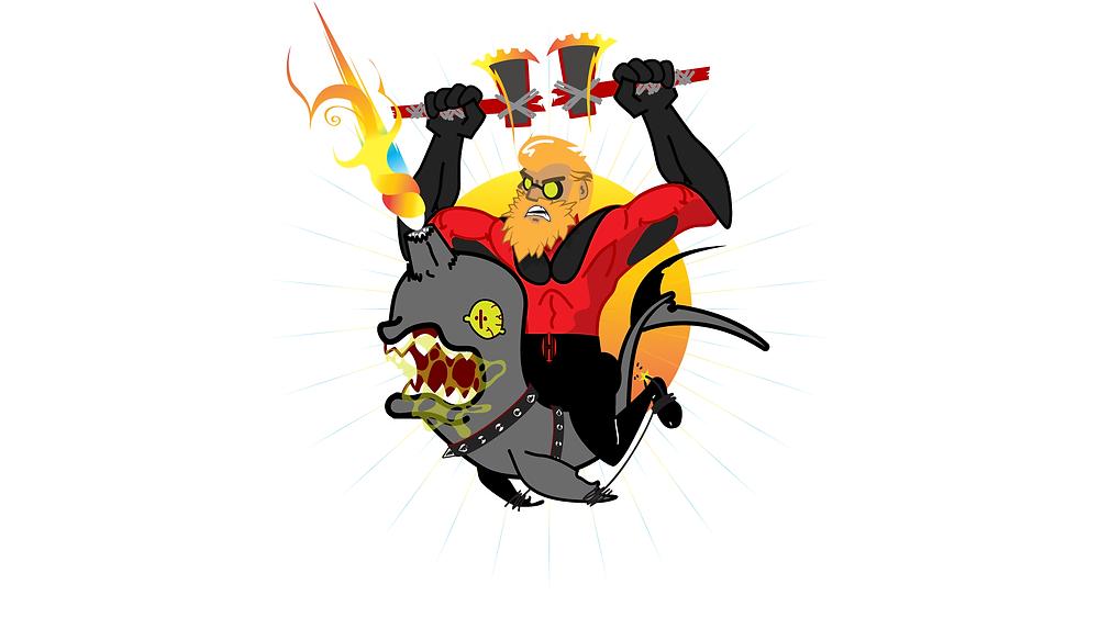 HackUman Red, Vectored