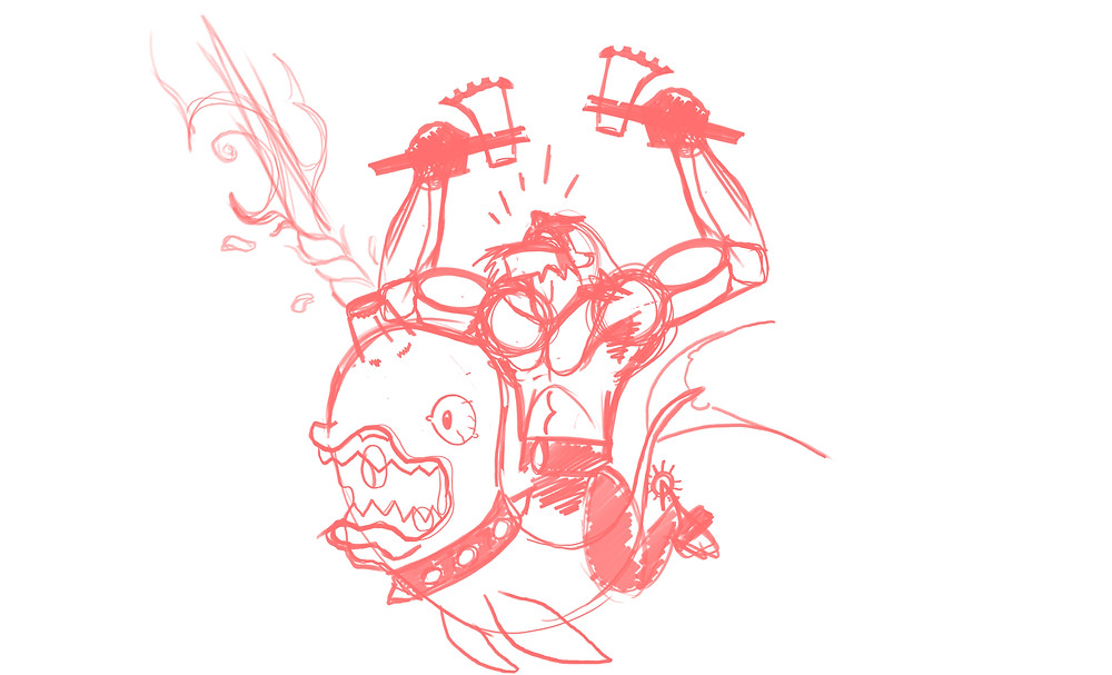 HackUman Red, Sketch