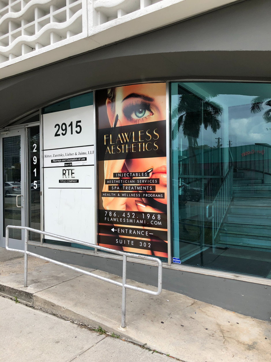 Flawless Aesthetics - Window Display Graphics