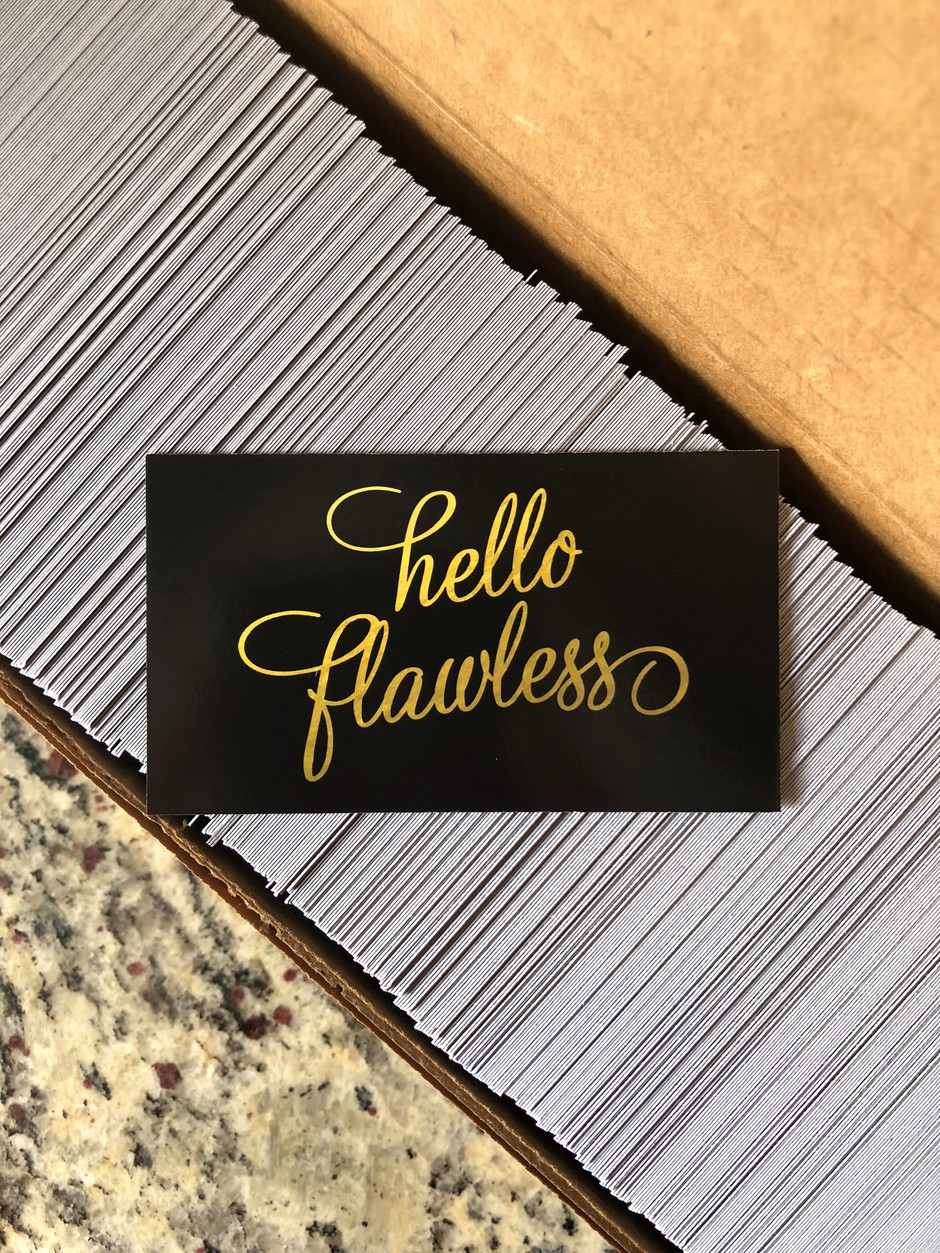 Flawless Aesthetics - Business Cards