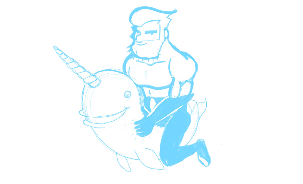 HackUman Blue Sketch