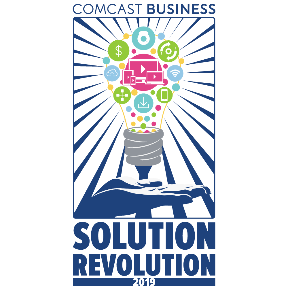 Comcast Business Solution Revolution 2019 Logo by Joey Funk of Optic Blast! Studios