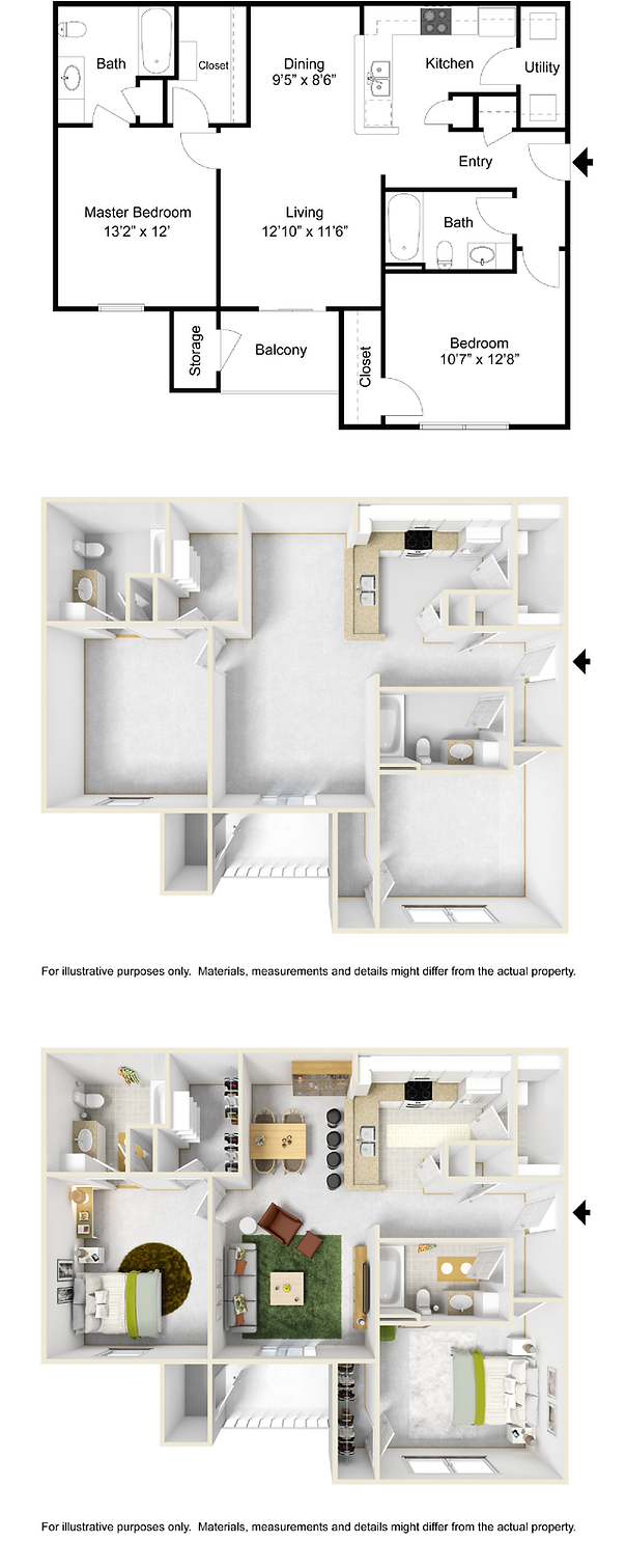 2 bedroom 2 bath apartment for rent in PellaHighpoint at Pella   2 Bedroom Apartment. 2 Bedroom 2 Bath Apartment. Home Design Ideas