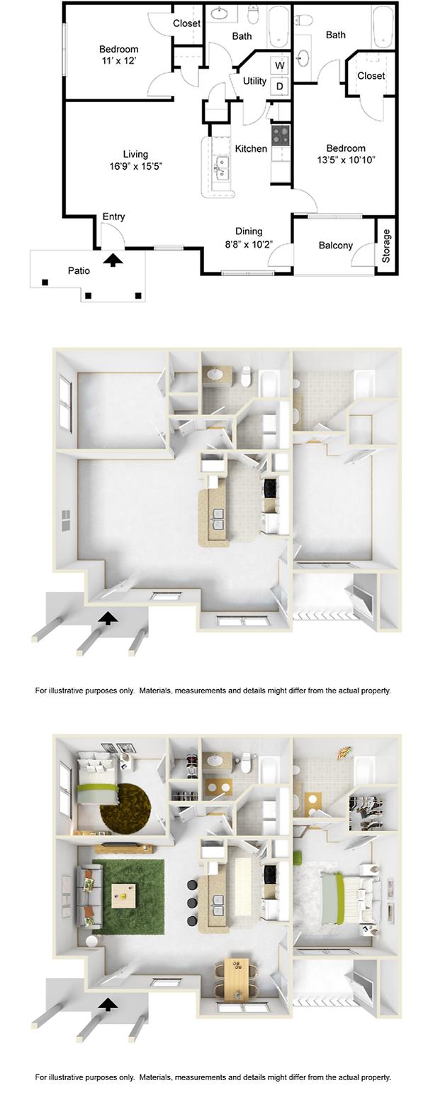 2 bedroom 2 bath apartment for rent in Pella