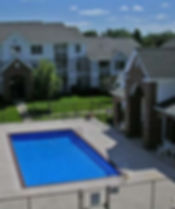 Pella Highpoint Apartments pool clubhouse