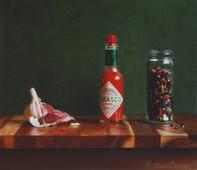 Garlic, Tabasco & Rainbow Pepper