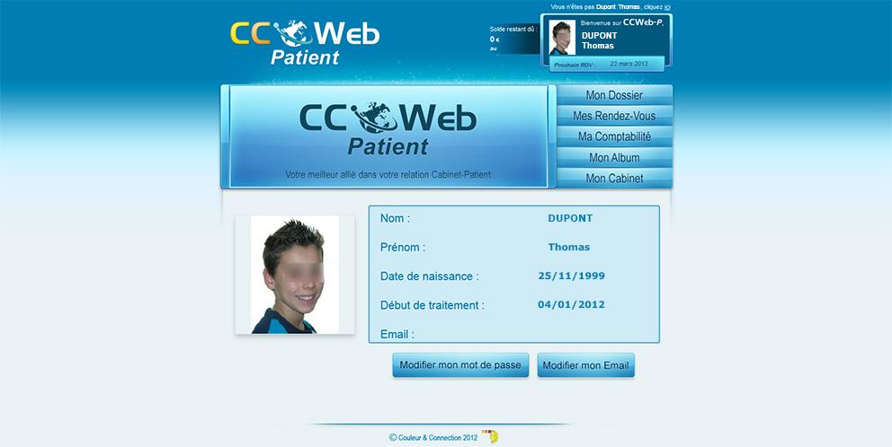 CCWeb Patient - Home