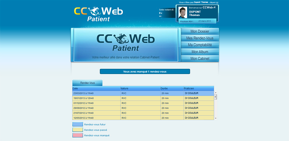 CCWeb Patient - Appointments