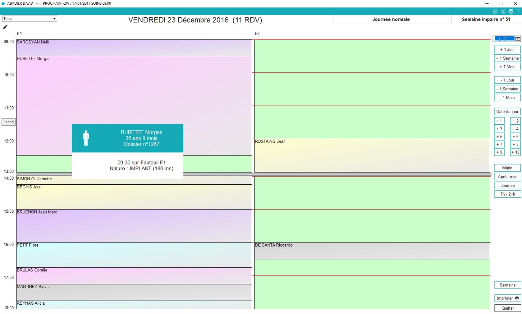Agenda journée