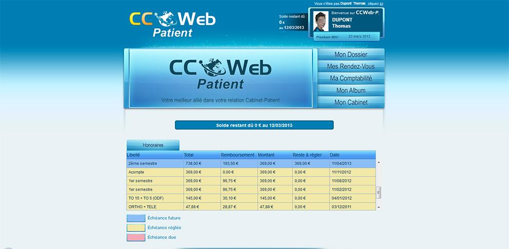 CCWeb Patient - Account balance