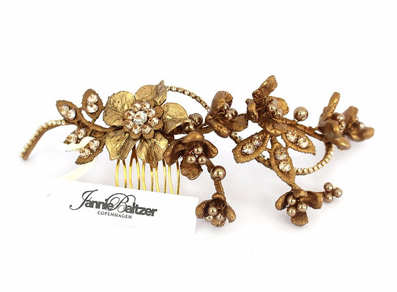 Antique Floral Wired Haircomb