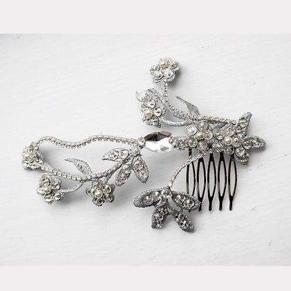Silver haircomb
