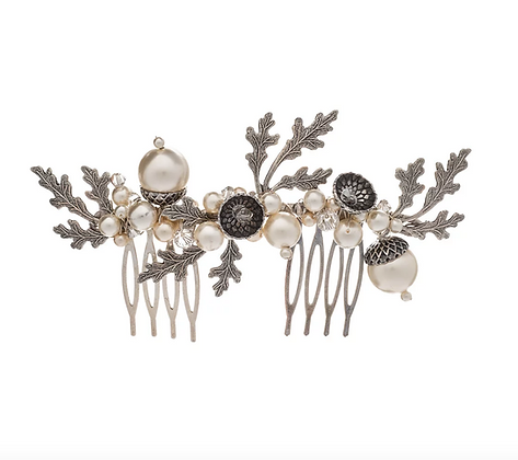 Petworth Pearl Acorn Large Hair Comb