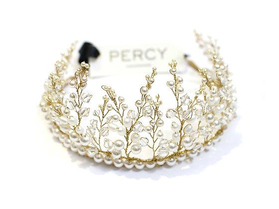 Annabelle Pearl Crystal Wedding Crown