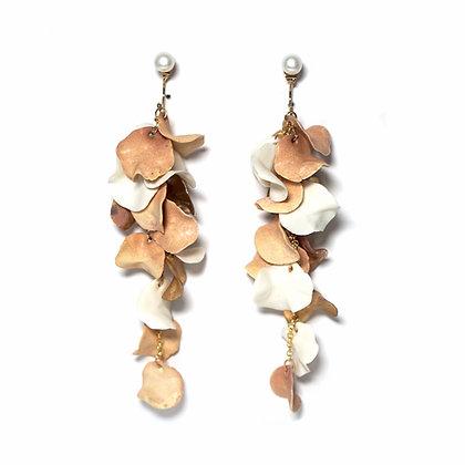 Aurea Bloom earrings (L)- Pink/White/Gold