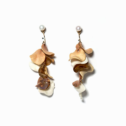 Aurea Bloom earrings (S) - Pink/White/Gold