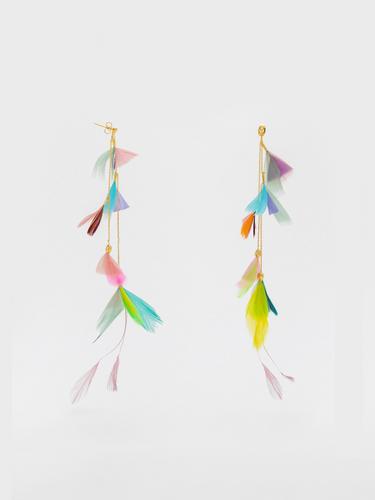 Plume Multi-colour Earrings