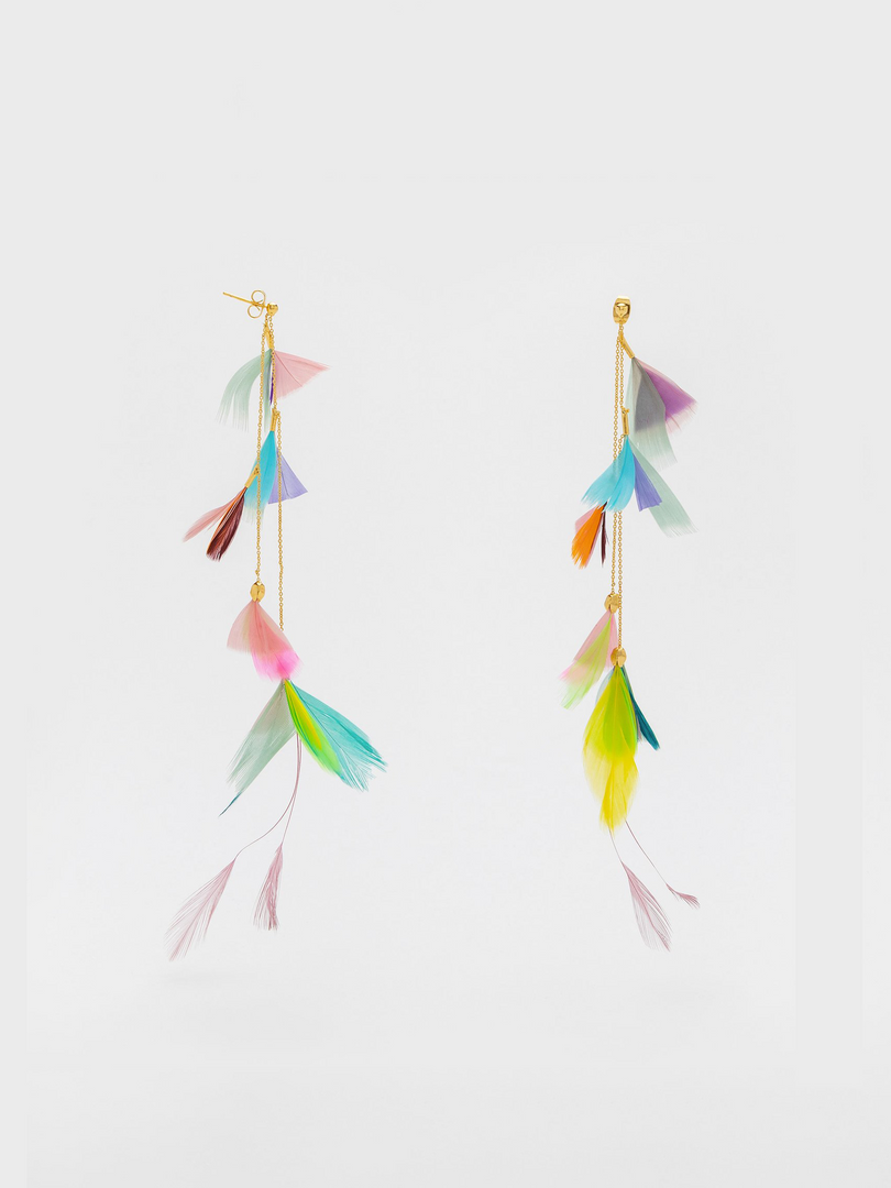 Plume Multi-colour Earrings