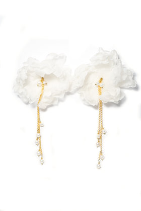 Oona earrings - White