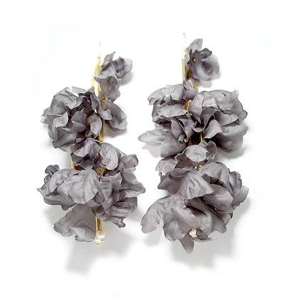 Echo earrings - Dark grey (Small)