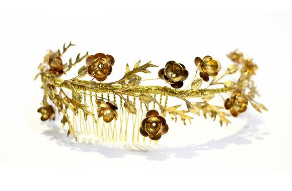 Gilded Wreath Reverse Haircomb