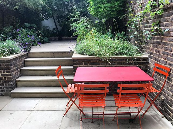 A cleaned up garden in Chelsea - full su