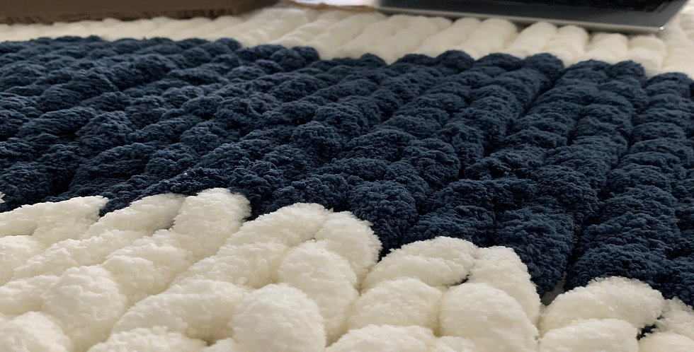 Chunky Chenille Duo Blankets Deluxe