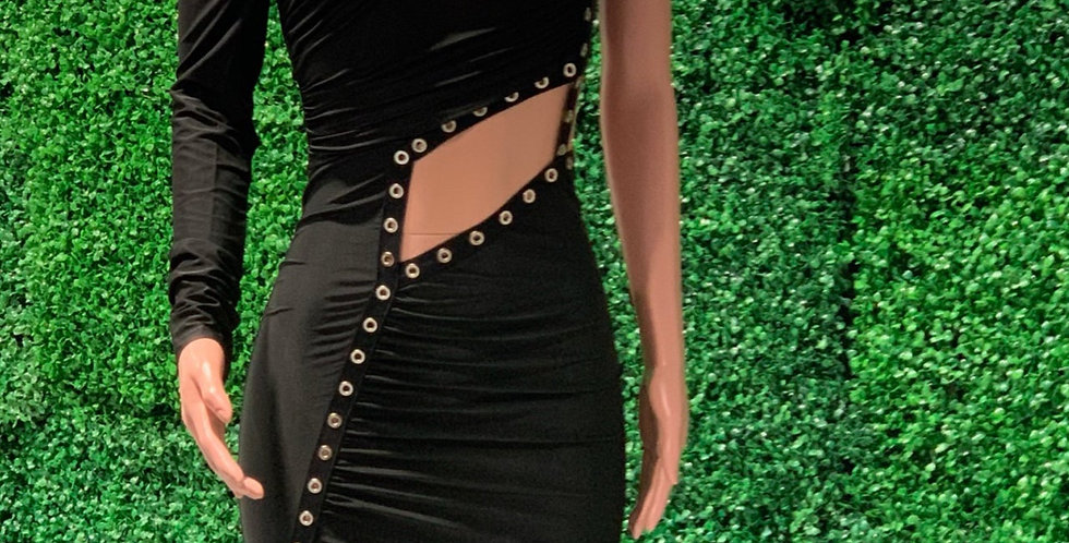 Nadine fitted cutout dress