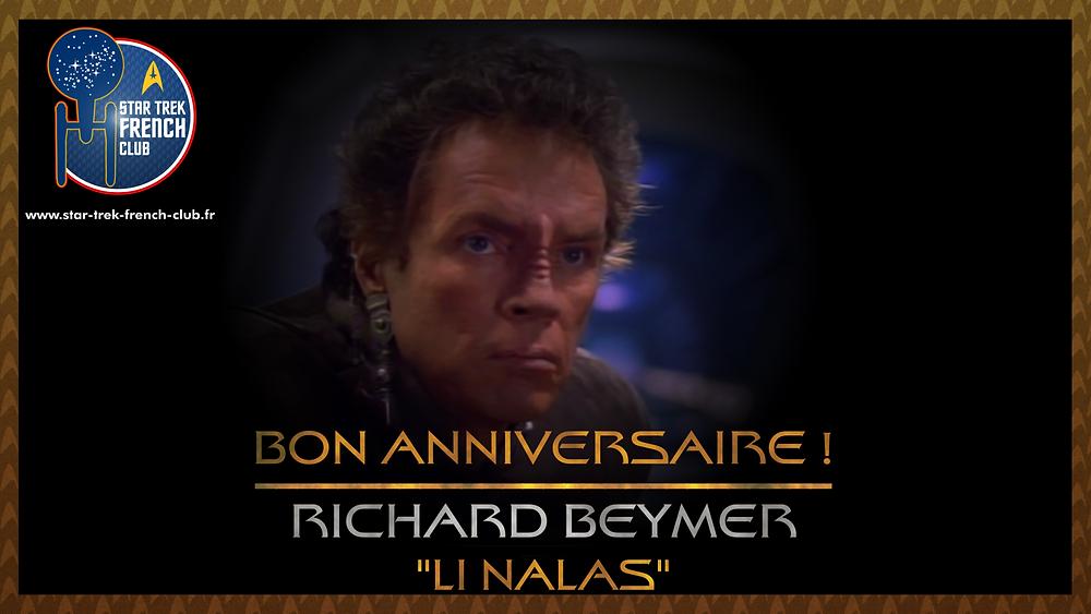 Visuel anniversaire de Richar Beymer ici en tant que Li Nalas dans Star Trek: Deep Space Nine.