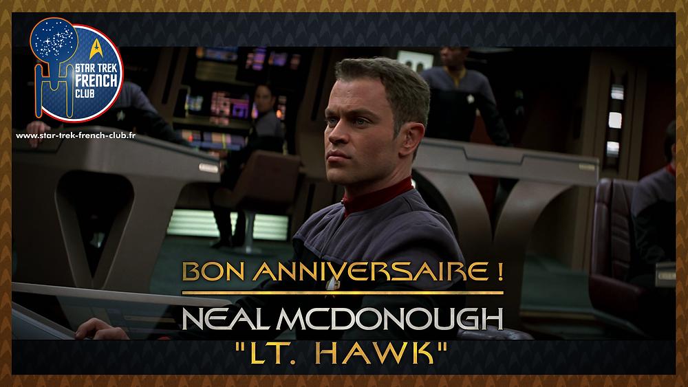 Anniversaire de Neal McDonough, ici en tant que Lieutenant Hawk dans Star Trek: First Contact.