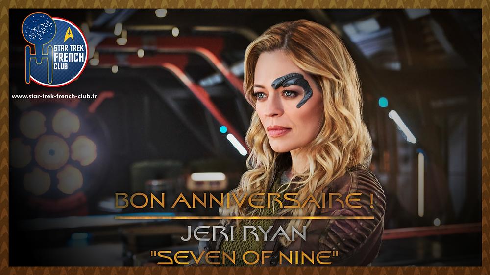 Anniversaire de Jeri Ryan ici en tant que Seven of Nine, personnage de Star Trek: Voyager et actuellement dans Star Trek: Picard.