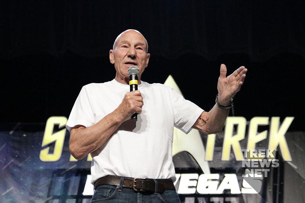 Sir Patrick Stewart à la convention Star Trek Las Vegas - Crédits : treknews.net