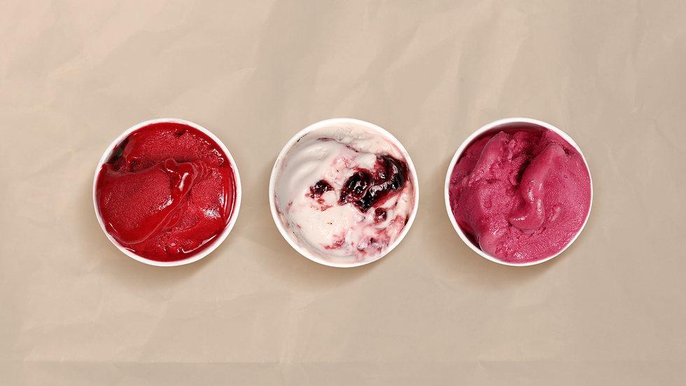 Trio von Eiscreme