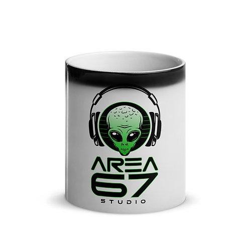 Area 67 Alien Headphones Glossy Magic Mug