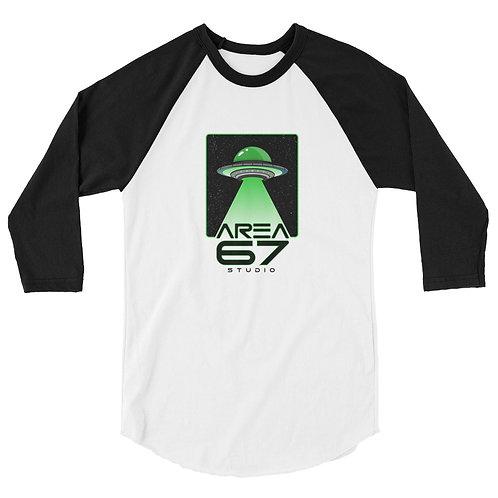Area 67 UFO - 3/4 sleeve raglan shirt
