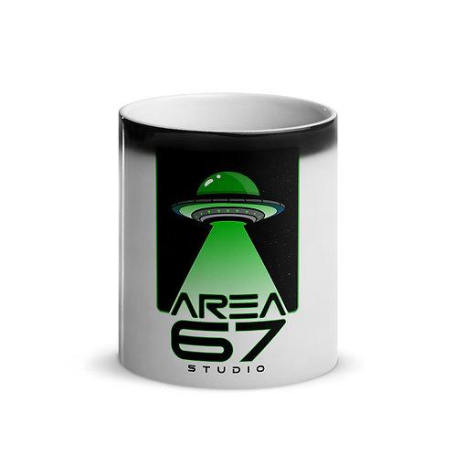 Area 67 UFO Glossy Magic Mug