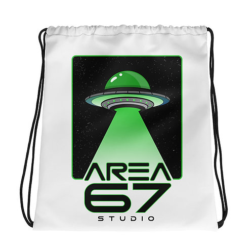 Area 67 UFO Drawstring bag