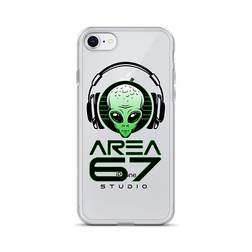 Area 67 Alien Headphone - iPhone Case