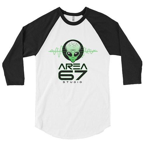 Area 67 Alien Wavs - 3/4 sleeve raglan shirt
