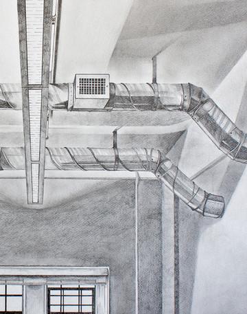 Studio Ceiling at 3:30 PM (detail)
