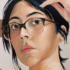 Self Portrait 2020 (Pulling My Hair Back) (detail)