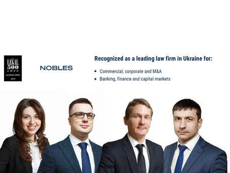 Nobles receives high recognition by The Legal 500