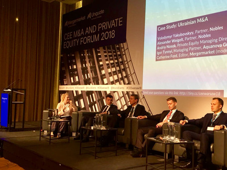 Nobles Partners Participated in Ukraine Panel at the CEE M&A and Private Equity Forum