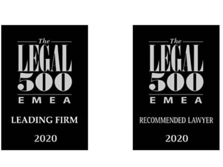 Nobles' New Recognitions by The Legal 500